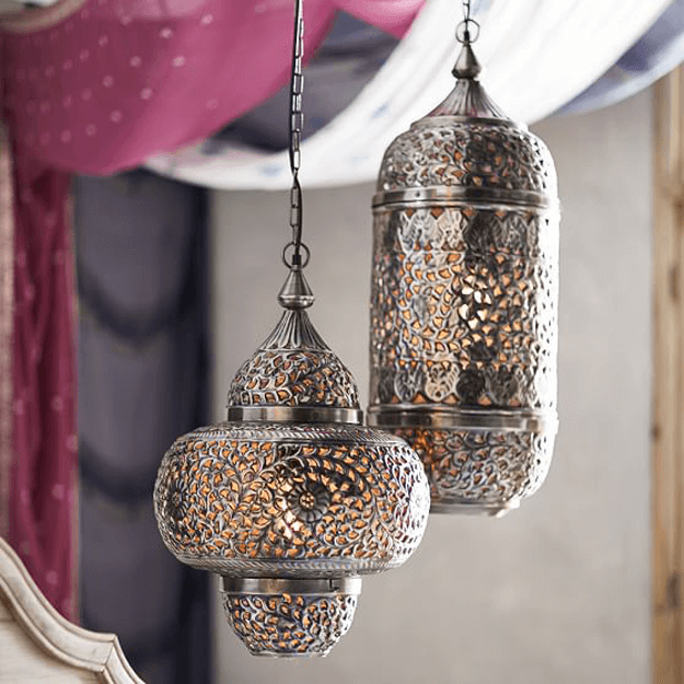 moroccan style metal pendant lights