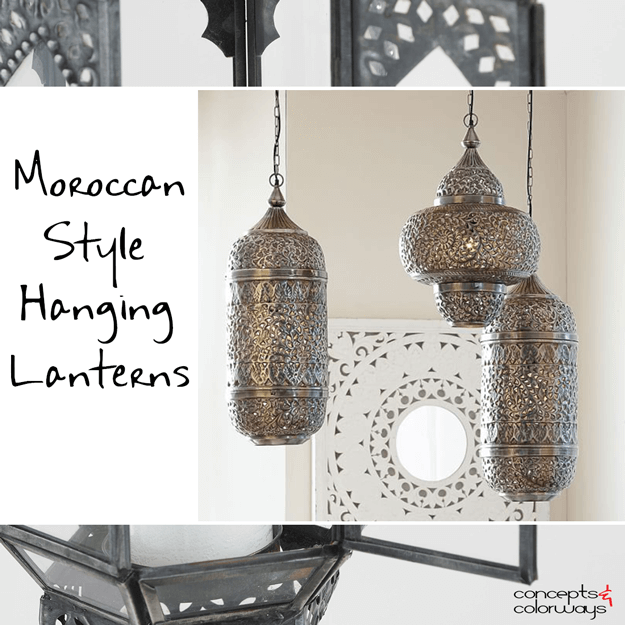 moroccan style hanging lantern pendant lights  sc 1 st  Concepts and Colorways & MOROCCAN STYLE HANGING LANTERNS - Concepts and Colorways azcodes.com
