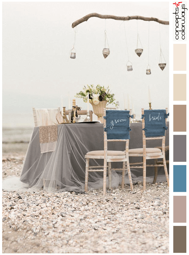 beachside ireland wedding inspired color palette