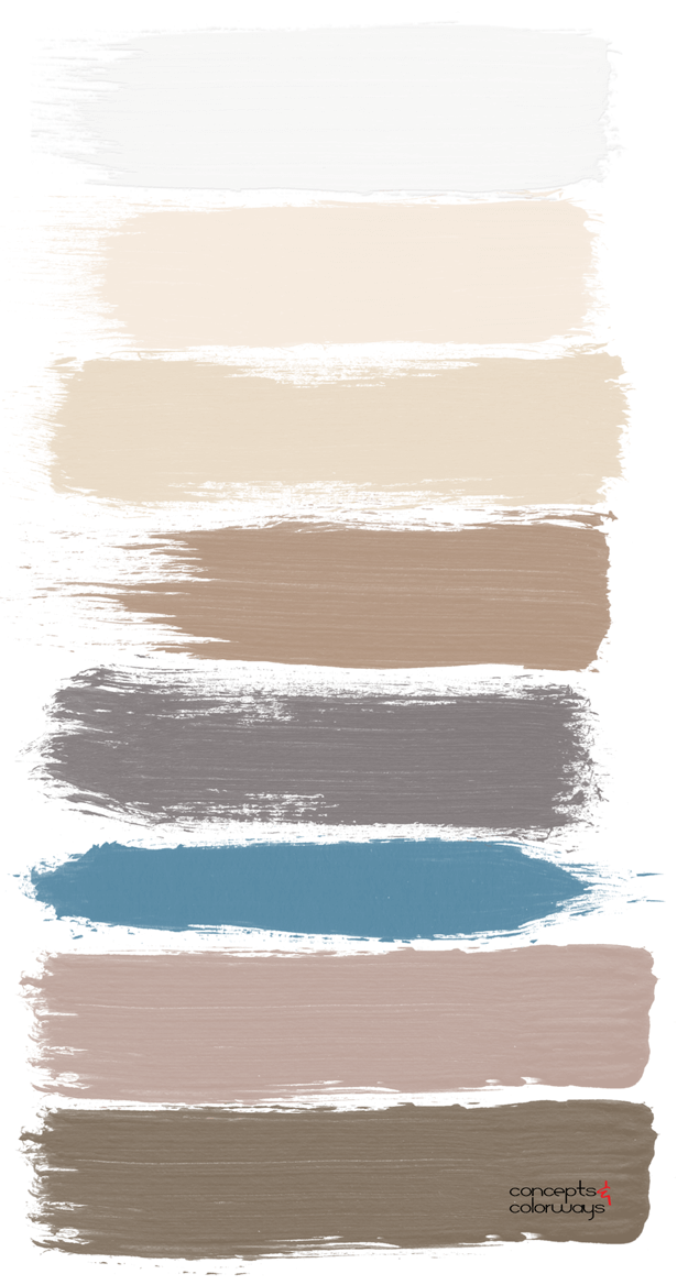 neutral paint palette with slate blue accent