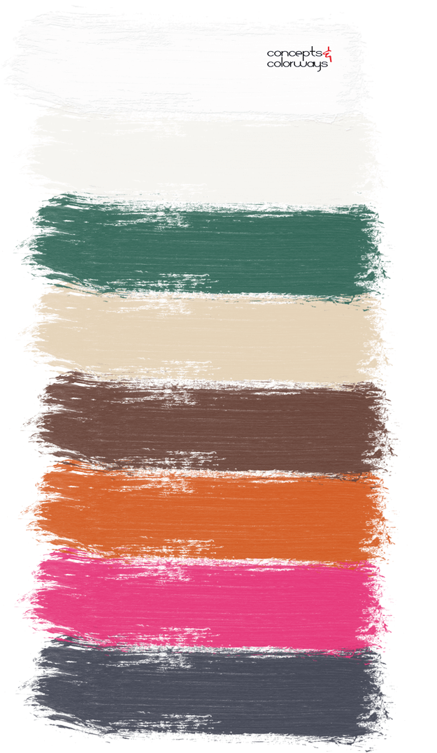 colorful foundations paint palette