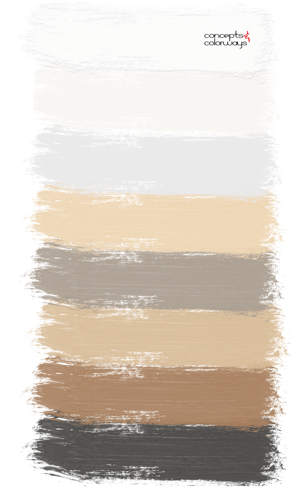 warm toned neutral paint palette