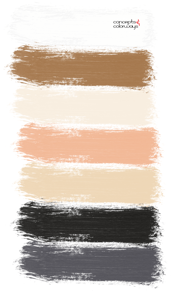 straw and black paint palette