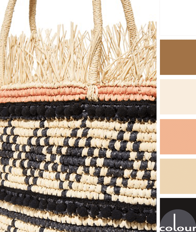 natural straw and black color palette