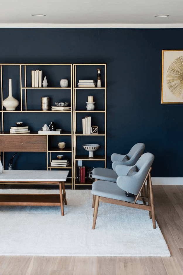 Sherwin williams popular gray concepts and colorways for Navy blue family room