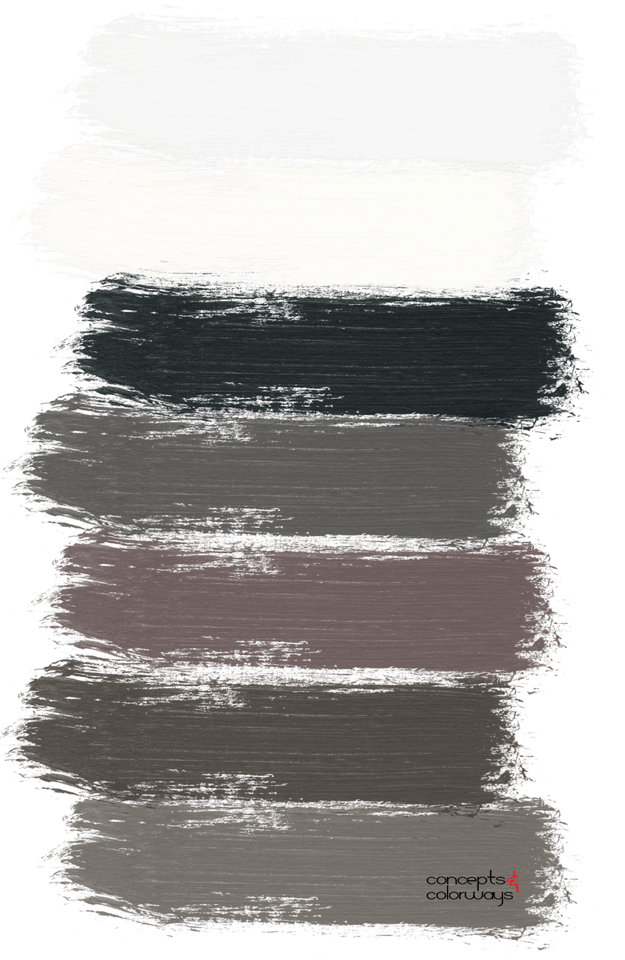black and white paint palette
