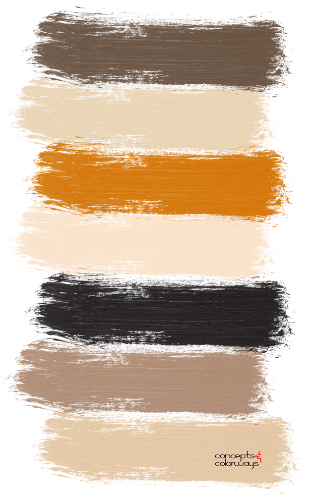 copper collette paint palette
