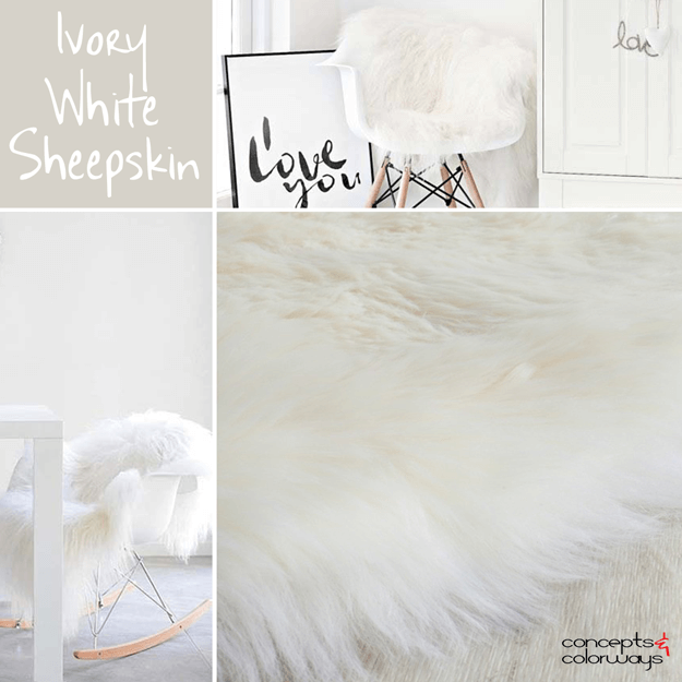 ivory white sheepskin throw rug interior design element