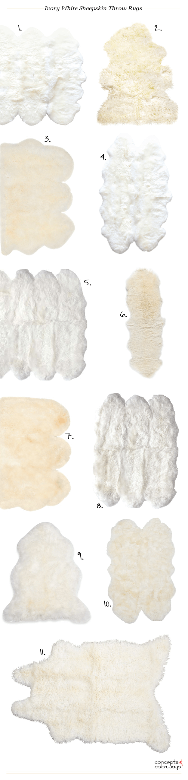 ivory white sheepskin throw rugs product roundup
