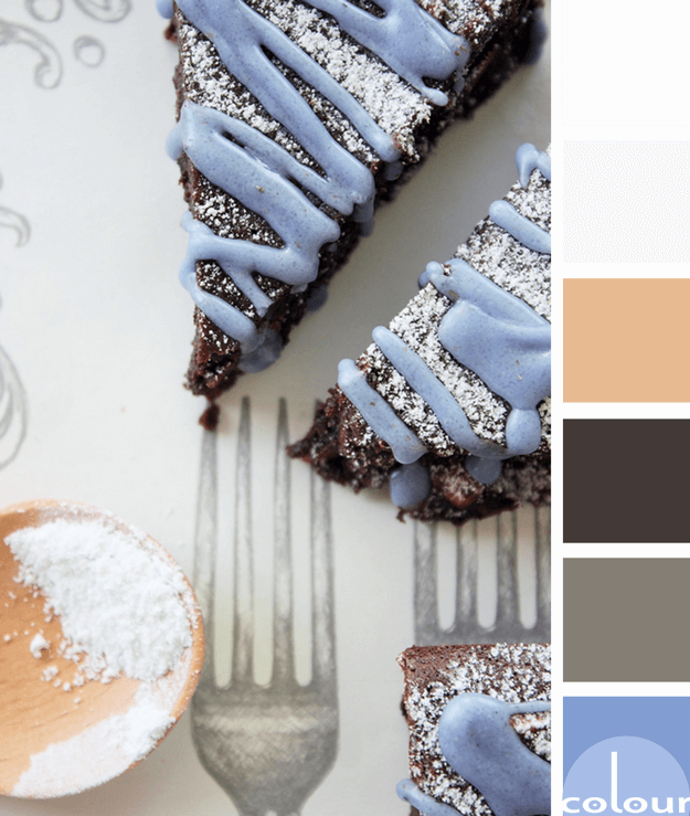brownie inspired color palette