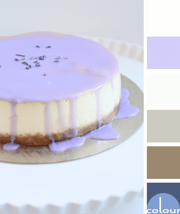 lavender glazed cheesecake color palette