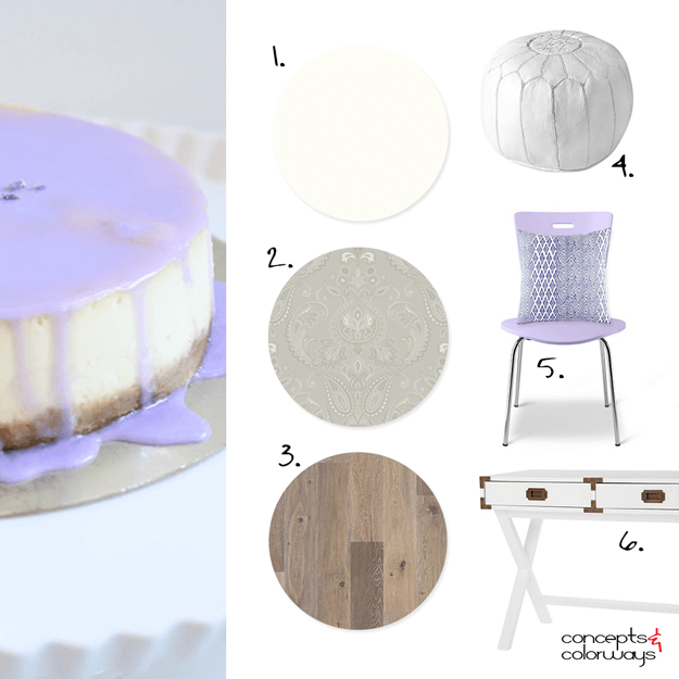 lavender cheesecake interior mood board