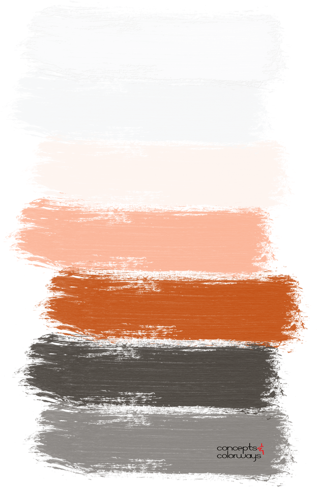 brownish-black and blood orange paint palette