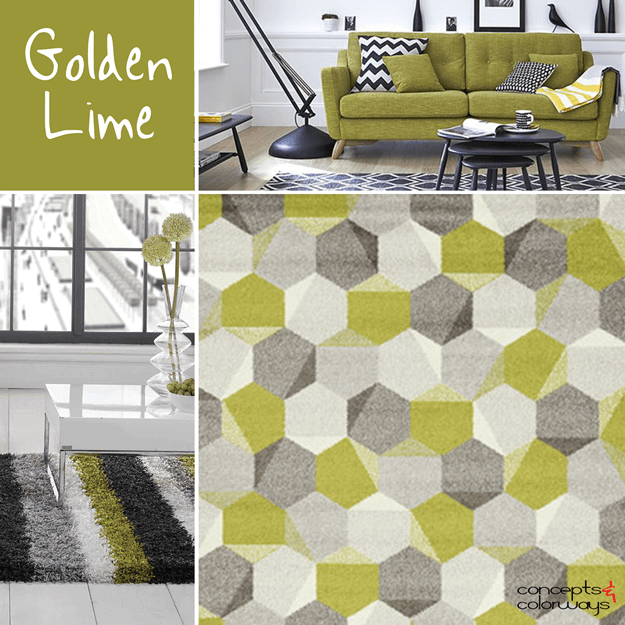 pantone golden lime interior design color trends