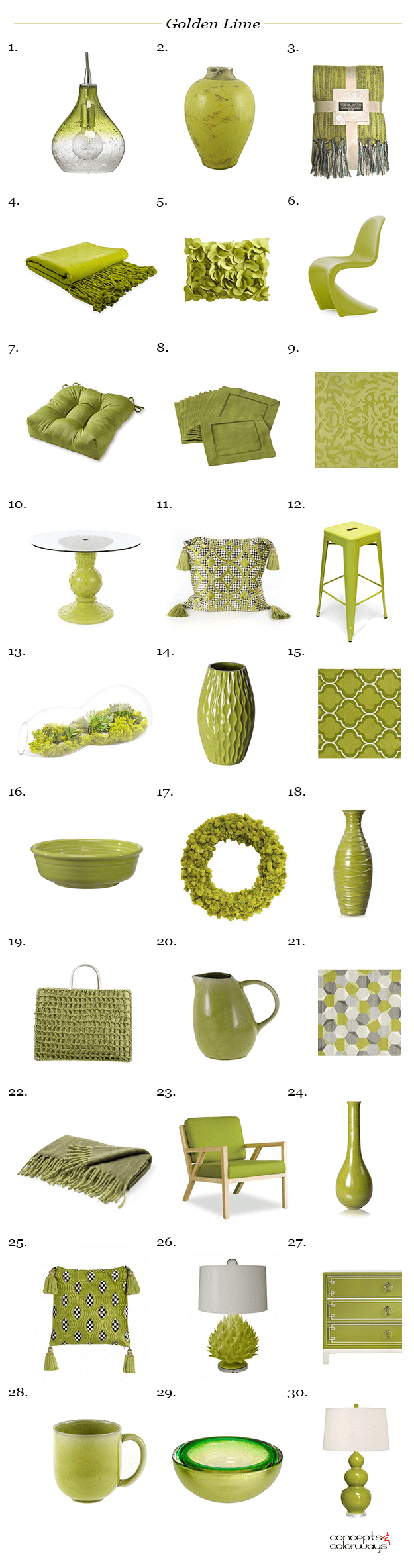 pantone golden lime product roundup