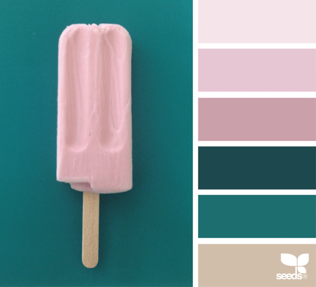 pink and teal color palette