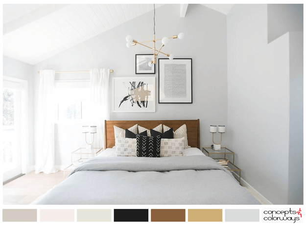 light gray bedroom color palette