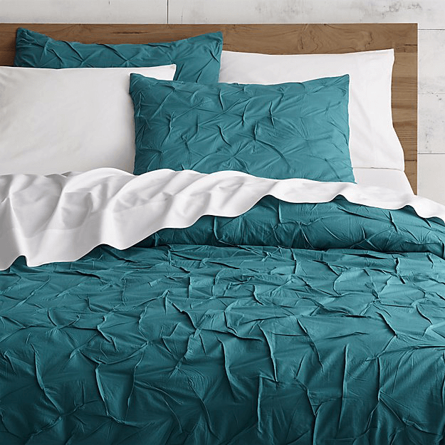 teal green duvet cover