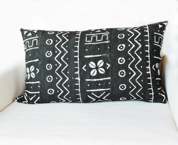 BLACK MUDCLOTH TRIBAL PILLOWS Concepts and Colorways