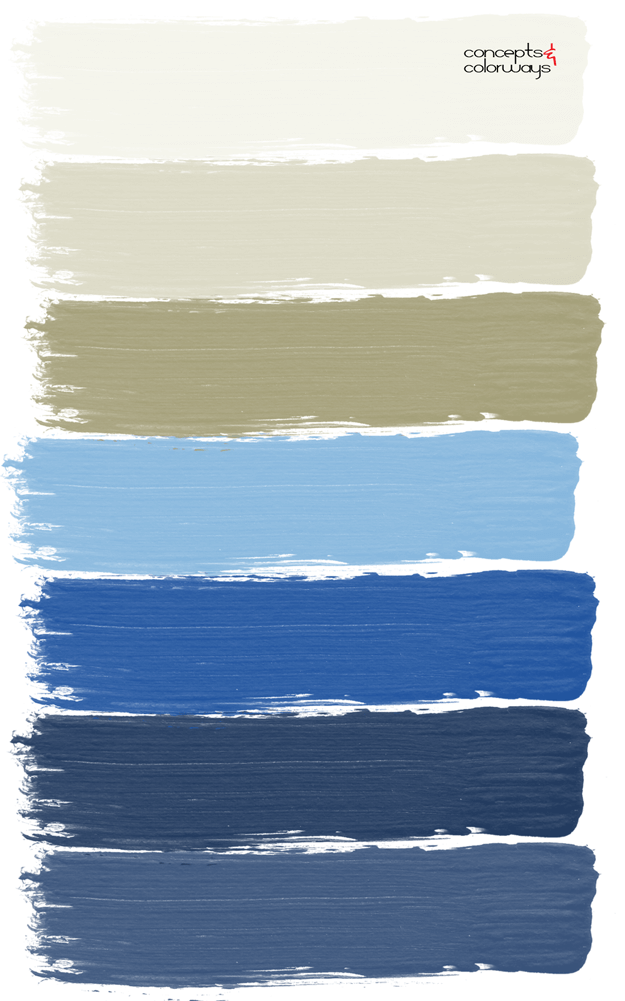 blue and khaki tan paint palettes