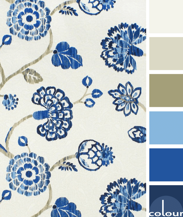 blue and tan color palette
