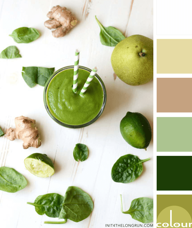 green smoothie inspired color palette