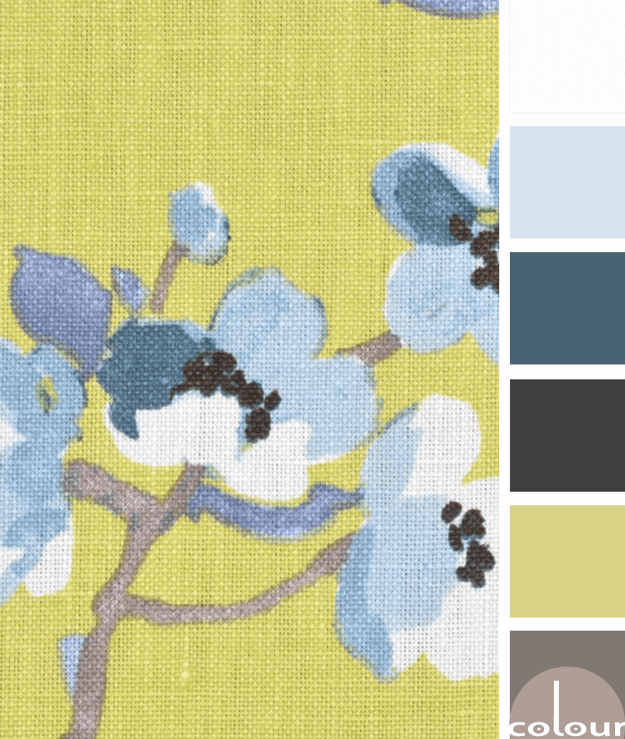 chartreuse and blue color palette