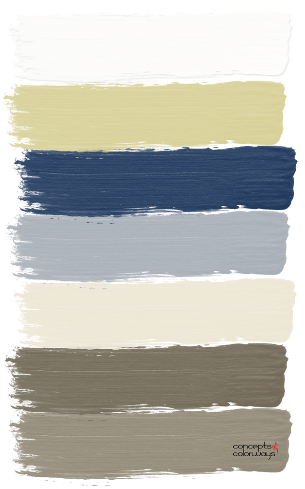 navy and tan paint palette