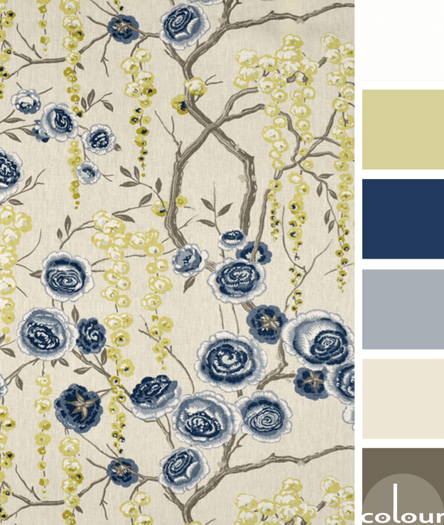 navy and tan color palette