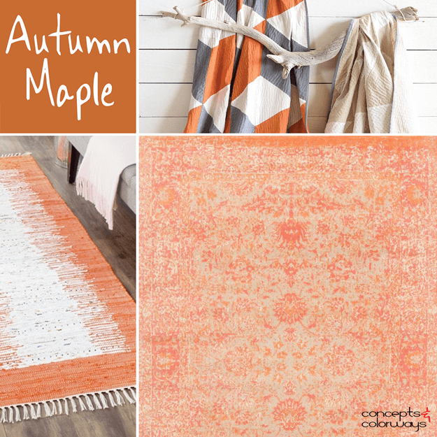 pantone autumn maple interior design color trends