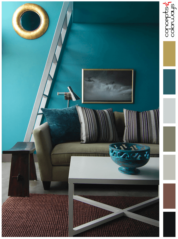 teal blue interior color palette