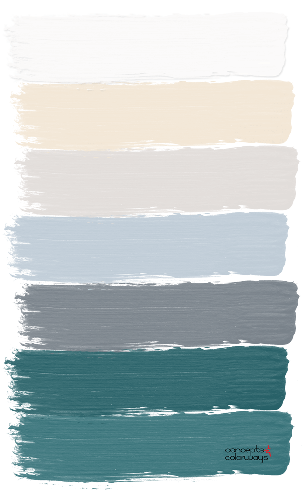 teal interior paint palette