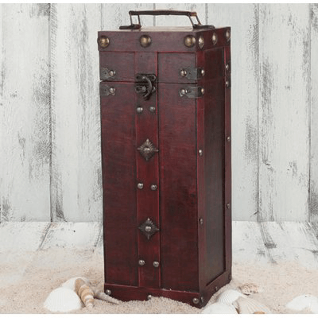 burgundy red wine rack trunk