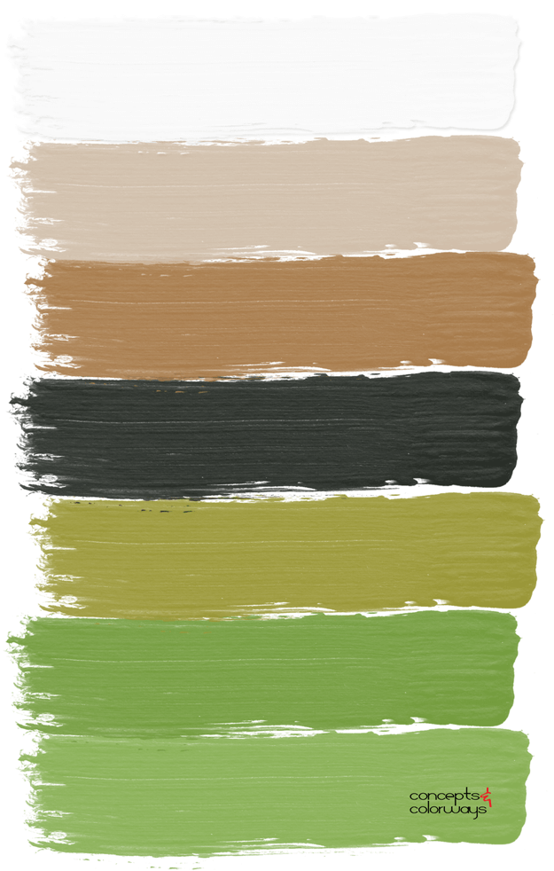 black brown and green paint palette