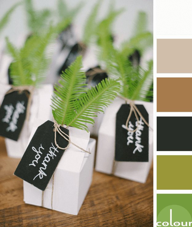 brown black and green color palette