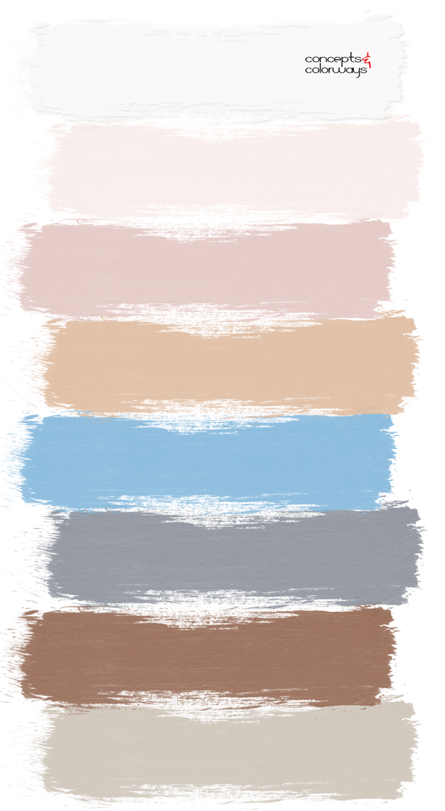 blushing facade paint palette