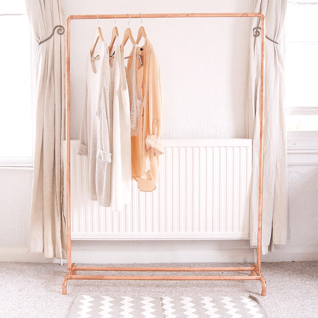 copper pipe garment rack