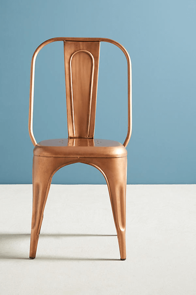 copper vintage style metal chair