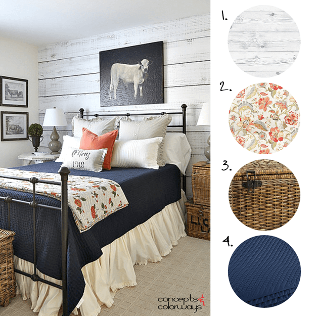 country style bedroom interior design mood board