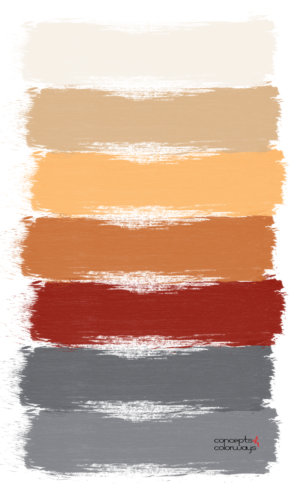 blood orange paint palette
