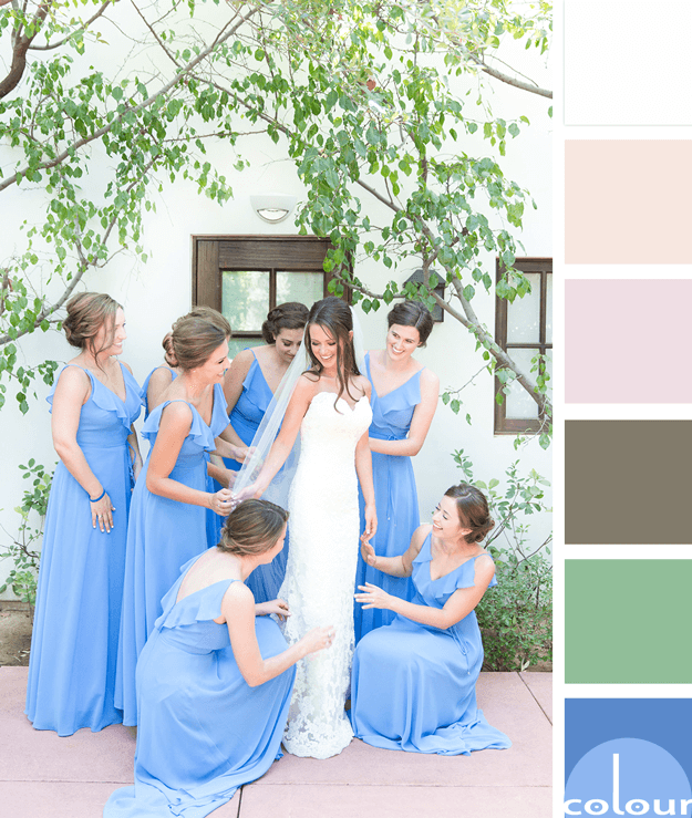 wedding inspired color palette with marina blue