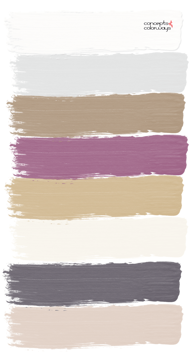 purple and gold paint palette