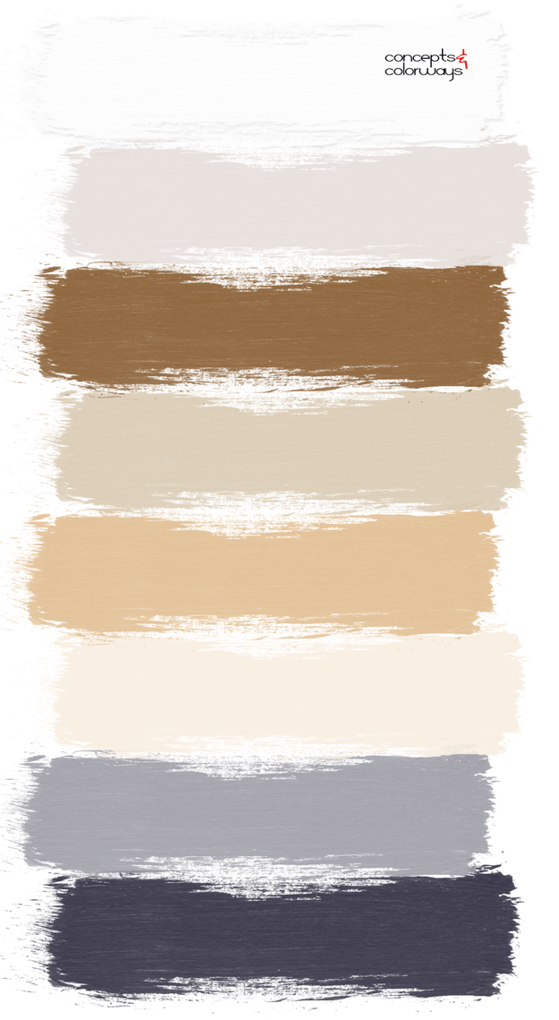 warm toned paint palette