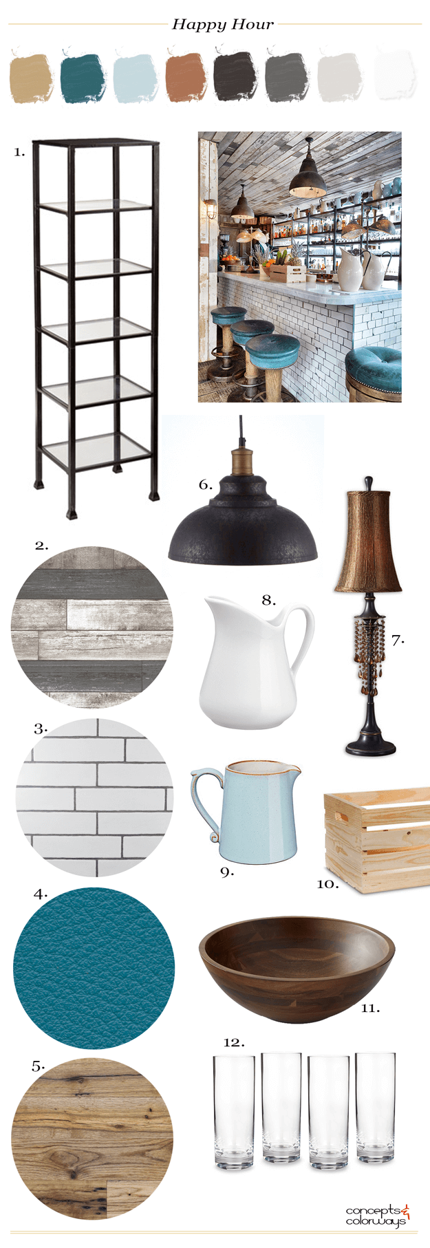 industrial style bar interior get the look mood board