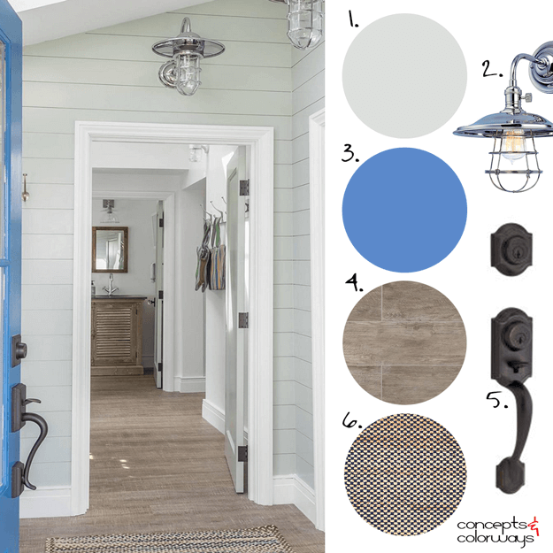 modern cottage interior design mood board