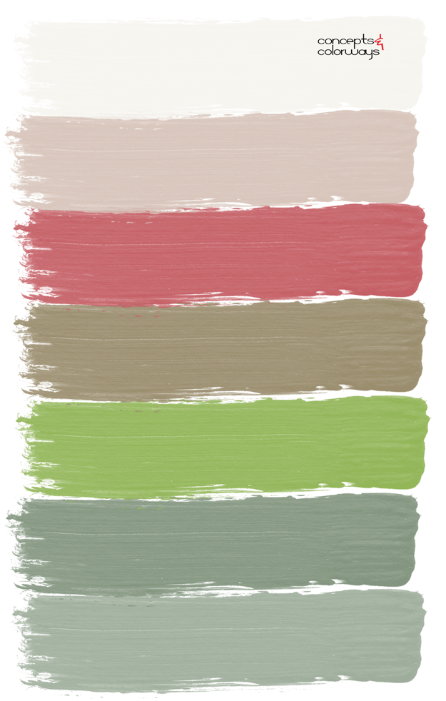 bouquet inspired paint palette