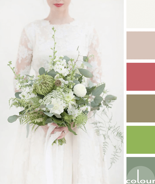 bouquet inspired color palette