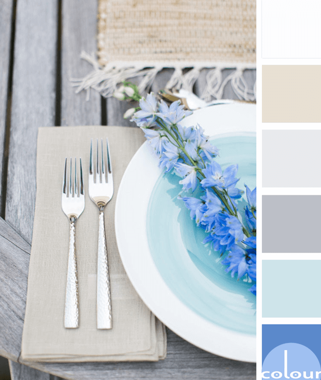table setting inspired color palette