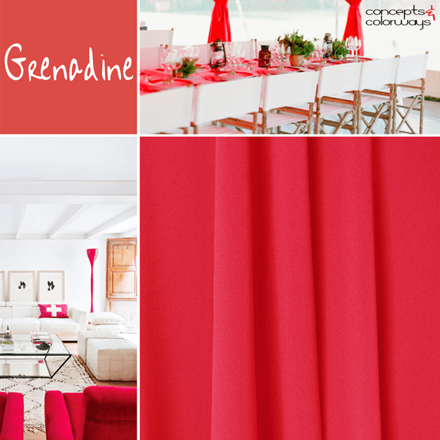 pantone grenadine bright red interior design