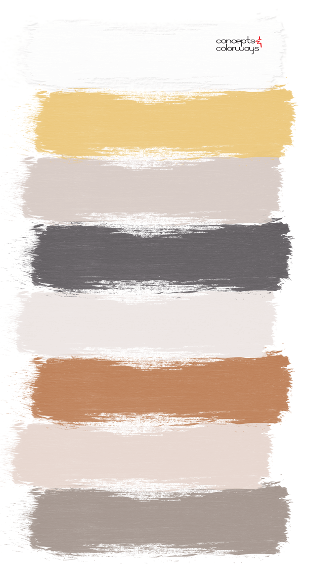 sunny yellow paint palette